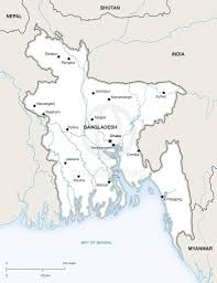 Bay Of Bengal Map Vector Map Of Bangladesh Political One Stop Map
