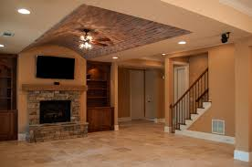 manor basement with kitchen family room pool room office