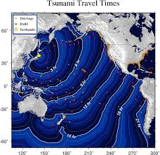 California travel times images Map of california areas that could see tsunami photos huffpost jpg