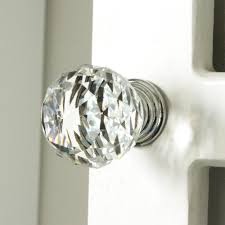 Kitchen Cabinet Door Locks K9 Clear Crystal Knob Chrome Glitter Knob Kitchen Cabinet Knobs