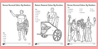 roamn numeral differentiated numeral colour by numbers numeral