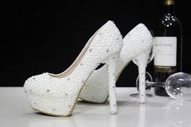 Wedding Shoes Ivory Cheap New Bride Shoes Ivory Beautiful Vogue Crystals And Pearl