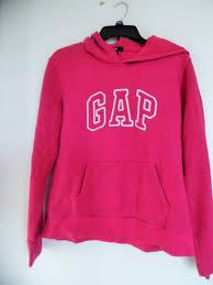 womens gap logo hoodie sweatshirt large l pink ebay