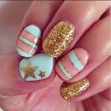 gold star nail design nail ideas pinterest star nail designs