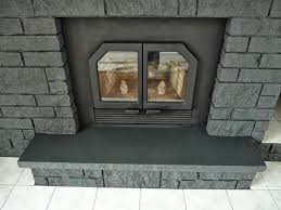 How To Resurface A Brick Fireplace by How To Easily Paint A Stone Fireplace Charcoal Grey Fireplace
