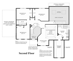 2nd Floor Plan Design Bowes Creek Country Club The Masters Collection The Princeton