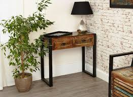 industrial console table with drawers adding bronze paint industrial console table console table