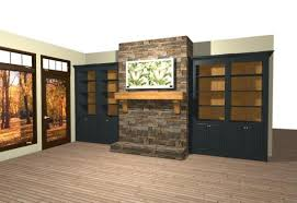 black built ins stone fireplaces with built ins built in bookshelves around