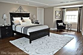 Bedroom Area Rugs Contemporary Master Bedroom With Hardwood Floors By Elite Staging