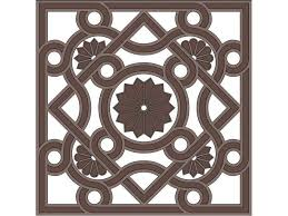 square byzantine ornament vector free