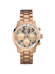 ladies steel bracelet images Guess women 39 s chronograph rose gold tone steel bracelet watch u0330l16 jpg