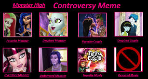 Meme High - monster high controversy meme by isaacel on deviantart