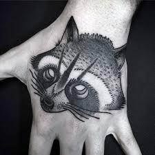 attractive raccoon tattoos parryz com