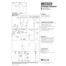 Delta Faucet Parts Diagram Delta Faucet 9178 Dst Leland Polished Chrome Pullout Spray Kitchen