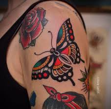 butterfly traditional floriansantus on instagram tattoos