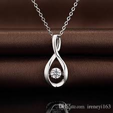 stone silver necklace images Wholesale new 925 italy silver pendant with high quality dancing jpg