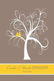 the loving tree thumbprint tree guest book 60 100 guests