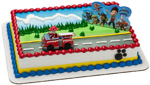 construction cake toppers paw patrol cake topper 2 pieces birthdayexpress