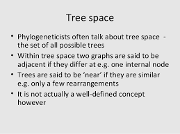 interpreting tree space in the context of large empirical data