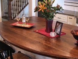custom wood countertop options finishes recommended as a permanent finish not to be used as a cutting surface