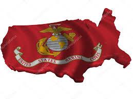 Image Map Of United States by Flag And Map Of United States Marine Corps U2014 Stock Photo Sav Up