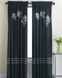 dkny modern rose window curtain panel curtainworks com