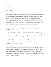Examples On How To Write A Resume by How To Write A Cover Letter For A Resume