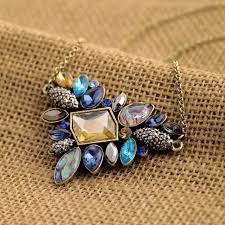 chain collar necklace images Kiss me exquisite rhinestone pendant necklace 2016 wholesale jpg