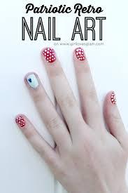 retro patriotic nail art loves glam