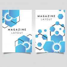vector abstract magazine layout template designs vector free
