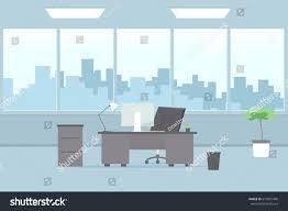 office interior modern office interior vector cartoon image stock vector 613891490
