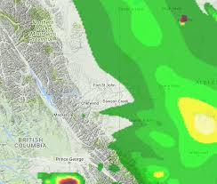 Wildfires In British Columbia Map by Heavy Smoke In Northeast B C From Fires In The Central Interior