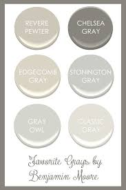 Favorite Living Room Paint Colors by Favorite Grays By Benjamin Moore Revere Pewter Chelsea Gray