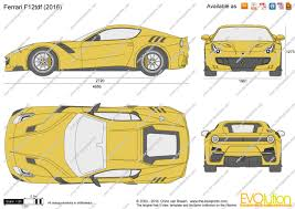 ferrari front drawing the blueprints com vector drawing ferrari f12tdf