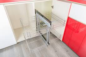 cabinet slide out wire baskets stainless steel magic corner pull