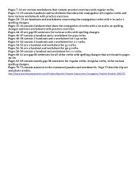 preview spanish present subjunctive conjugation practice booklet