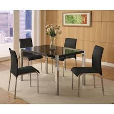 Black Gloss Dining Room Furniture Seconique Charisma Black Gloss Dining Set 4 Black Dining Chairs