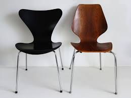 Arne Jacobsen Dining Chairs Arne Jacobsen And Oyvind Iversen Two Swedish Dining Chairs