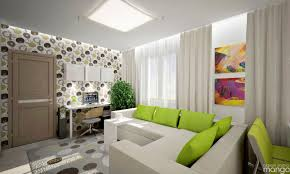 Modern Apartment Design Modern Apartment Design Decorated With Beautiful Wallpaper And