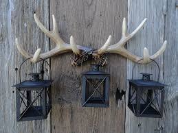 Lantern Hooks Wall Mounted Wall Antlers Faux Taxidermy Deer Antler Wall Rack Antler Hook