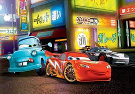disney cars lightning mcqueen wall paper mural buy at europosters disney cars lightning mcqueen wallpaper mural