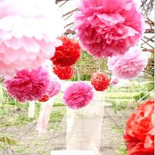 Hanging Party Decorations Hanging Paper Flower Decorations Paper Pom Pom Party Decorations