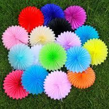 diy fans aliexpress buy 10inch 25cm paper flowers wheel fans