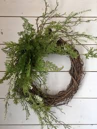 Fern Decor summer wreath spring wreath door wreath french country wreath