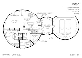 Multi Level Floor Plans Floor Plan Dl 5004 Monolithic Dome Institute