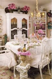 Shabby Chic Dining Table Set Dining Room Breathtaking Shabby Chic Dining Room With Pink Table