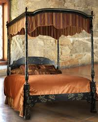 glossy ceiling bed canopy in gold color ideas interior bedroom