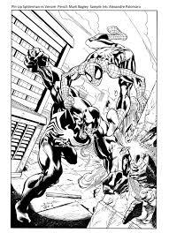 spiderman venom sample ink apalomaro deviantart