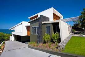 coolum bays beach house designed aboda design group architecture contemporary beach house design with small garden and stone fence ideas coolum bays
