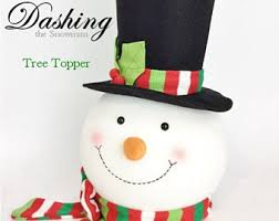 snowman tree snowman tree topper etsy